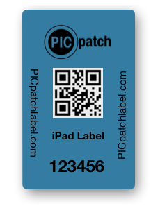 "Tamper Evident Security Labels for iPad (1"" x 1.5"") Roll of 500"