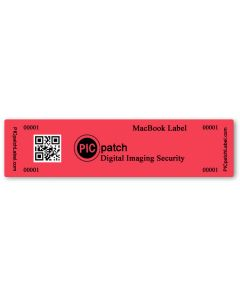 "Tamper Evident Security Labels for MacBook (4"" x 1"") Roll of 500"