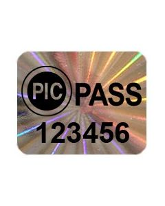 PICpass Badge Security Labels | 10 Pack