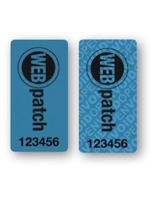 """WEBpatch Tamper-Evident Security Labels (0.5"""" x 1"""") 20 Pack"""