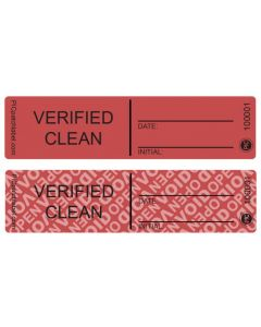 "Custom Verify Clean Seals (1"" x 4"") Roll of 500"