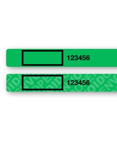 "Custom Universal Smartphone Security Labels Green (8.25"" x .25"") Roll of 400"