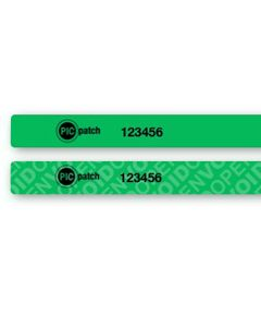 "Universal Smartphone Security Labels Green (.25"" x 8.25"") Roll of 400"